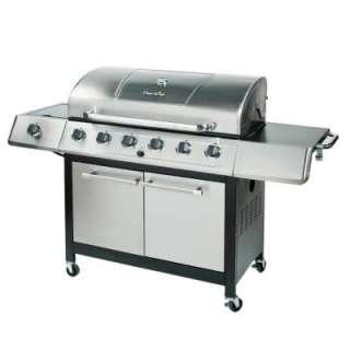 Char Broil 6 Burner Propane Gas Grill with Side Burner and Sear Burner