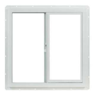 TAFCO WINDOWS Vinyl Slider Windows, 24 in. x 24 in. White with Single