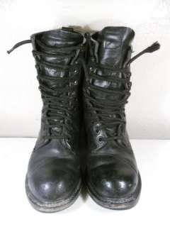 5R Men Black VTG Lace Up Steel Toe Boot