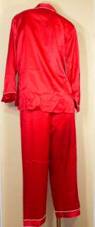 68 Victorias Secret White Trim Satin Pajama Set M