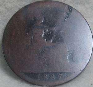 UK(Great Britain) 1887 penny Queen Victoria