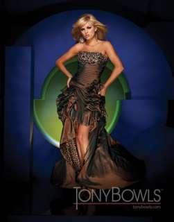 Sexy Strapless Brown/Leopard Prom Ball Gown Evening dress/Bridal dress