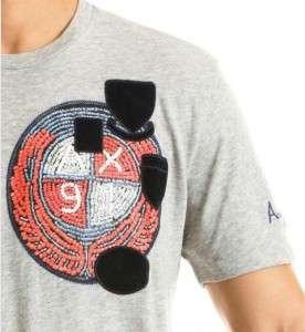 Armani Exchange Patch Logo T Shirt Heather Gray NWT