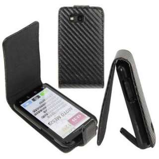 Motorola Defy ME525 Carbon Case Leder Etui Tasche