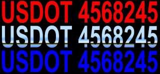 USDOT DOT DECALS DOT DOOR LETTERS DOT TRUCK DOT BOAT CRANE TRUCK
