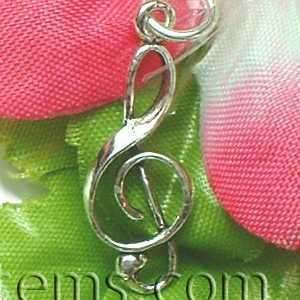 925 STERLING SILVER TREBLE CLEF NOTE CHARM / PENDANT