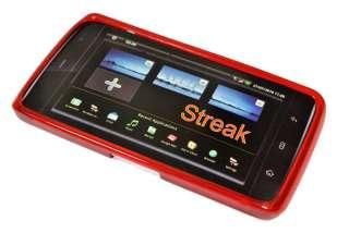 Für Dell Streak Mini 5 Rot TPU Silikon Tasche Etui Case Hülle Skin
