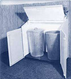 Trash, Garbage Can Bin Plans, outdoor, shelter S |