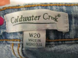 COLDWATER CREEK blue jean pants   Women PLUS 20W