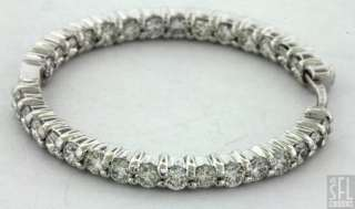 ROBERTO COIN 18K WHITE GOLD 3.0CT VS1/F DIAMOND IN AND OUT HOOP