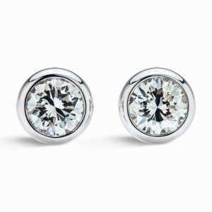 50 ct Genuine Natural Round Cut Diamond Stud Earrings 14k White Gold