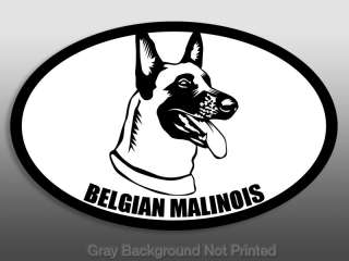 Oval Belgian Malinois Sticker  dog breed decal stickers