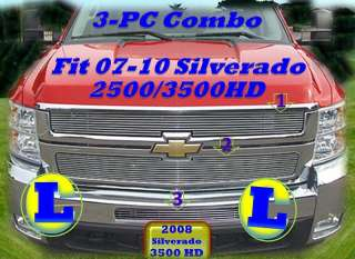 08 09 2009 Chevy Silverado 2500HD 3500HD Billet Grille