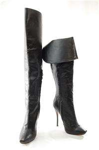 NEW AUTH L.A.M.B. Gwen Stefani 2 Ways Over Knee Knee High Leather