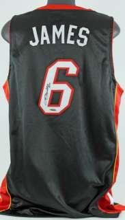 HEAT LEBRON JAMES SIGNED AUTHENTIC ADIDAS NBA JERSEY UDA #SHO99145