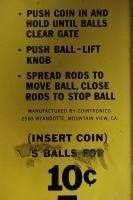 1960s Ball Walk Penny Arcade game balancing steel marble bikinis