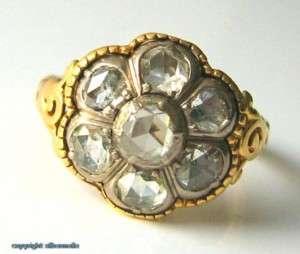 Diamantring Goldring Ringe 18Kt 750 Gold Antik Antike Biedermeier
