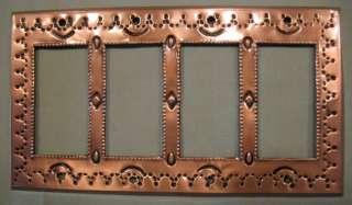 C09, Tin Quad Rocker Switch Plate Cover   Copper Finish