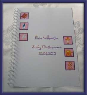 Festzeitung Konfirmation Design Symbole 5 Farben # lila