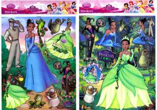 Princess Tiana & The Frog Stickers / Decal/ Cling Set