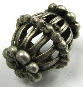 Nice Old Rare Handmade YEMEN SILVER Trade Bead