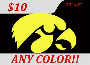 Iowa Hawkeyes Vinyl Decal Window Wall Sticker