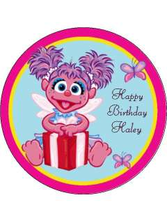 Abby Cadabby edible cake image topper round