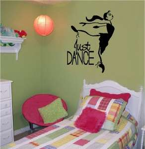 Just Dance Sticker Vinyl Wall Decal Word Letters Art