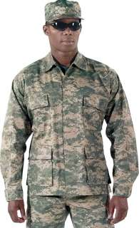 ACU Digital Camouflage BDU Military Tactical Camo Army Uniform Shirt