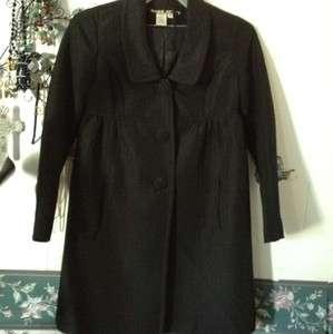 MISS SIXTY BLACK COAT DRESS JACKET