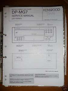 Service Manual Kenwood DP MG7 CD Player,ORIGINAL