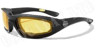 CHOPPER MENS MOTORCYCLE BIKER GOGGLES 5 COLOURS CH12
