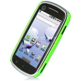 Ecell Style Range   Mesh Hard Case for Motorola XT800   Green
