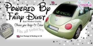 POWERED BY FAIRY DUST REAR WINDOW DECAL/GRAPHIC/STICKER