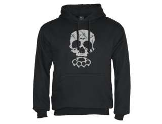 Skull Hoodie tattoo biker punk rock emo gothic new