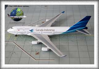 New Gemini Jets 1:400 Garuda Indonesia 747 400 PK GSG