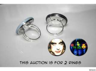 THE CURE Robert Smith set of 2 adjustable rings