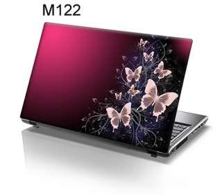 15.6 Laptop Skin Cover Sticker Decal pink butterflies