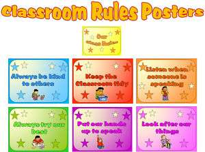 CLASSROOM RULES POSTERS DISPLAY TEACHING RESOURCES KS1
