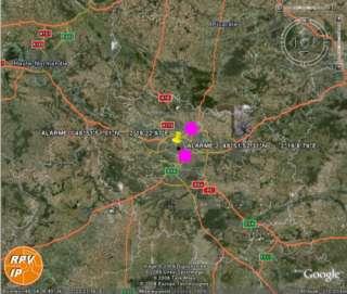 des coordonnées géographiques avec NOM DES LIEUX sur Google Earth