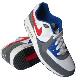 Nike Air Max Light Trainers White/Grey/Blue/Red Mens