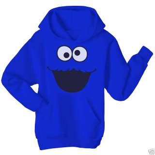 COOKIE MONSTER Sesame Street Blue Hoodie Top   Large