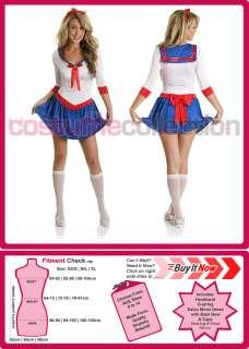 Ladies Sailor Moon Cosplay Super Hero Fancy Dress Halloween Outfit