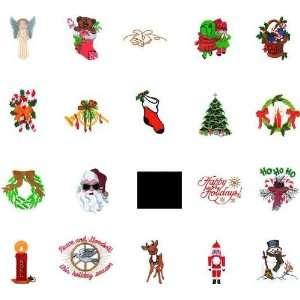 Viking 1+/Rose/Iris Embroidery Machine Card CHRISTMAS I
