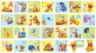 DISNEY WINNIE THE POOH GIANT ALPHABET WALL STICKER NEW