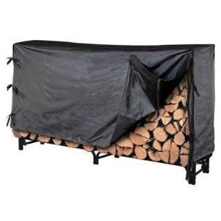 Landmann 8 Firewood Rack with Cover, 95.5 l x 13.5 w x 49 h (82434