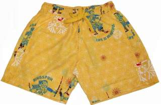 Mens RINGSPUN Mura Swim Swimming Shorts Yellow SALE!!!!