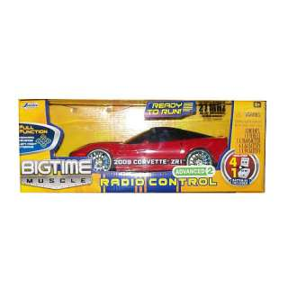 Big Time 116 Scale Radio Control Muscle Car   Red 2009 Corvette ZR1