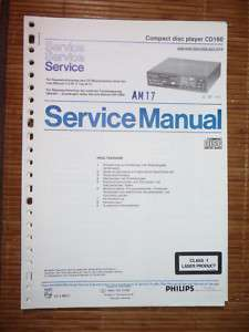 Service Manual Philips CD 160 CD Player,ORIGINAL