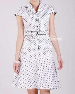 JIANTONG Women Clothing Polka Dots Short Sleeve Cotton Jacket Skirt